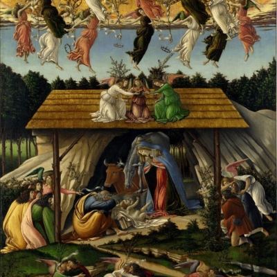 Sandro Botticelli. The Mystical Nativity. 1500-1501
