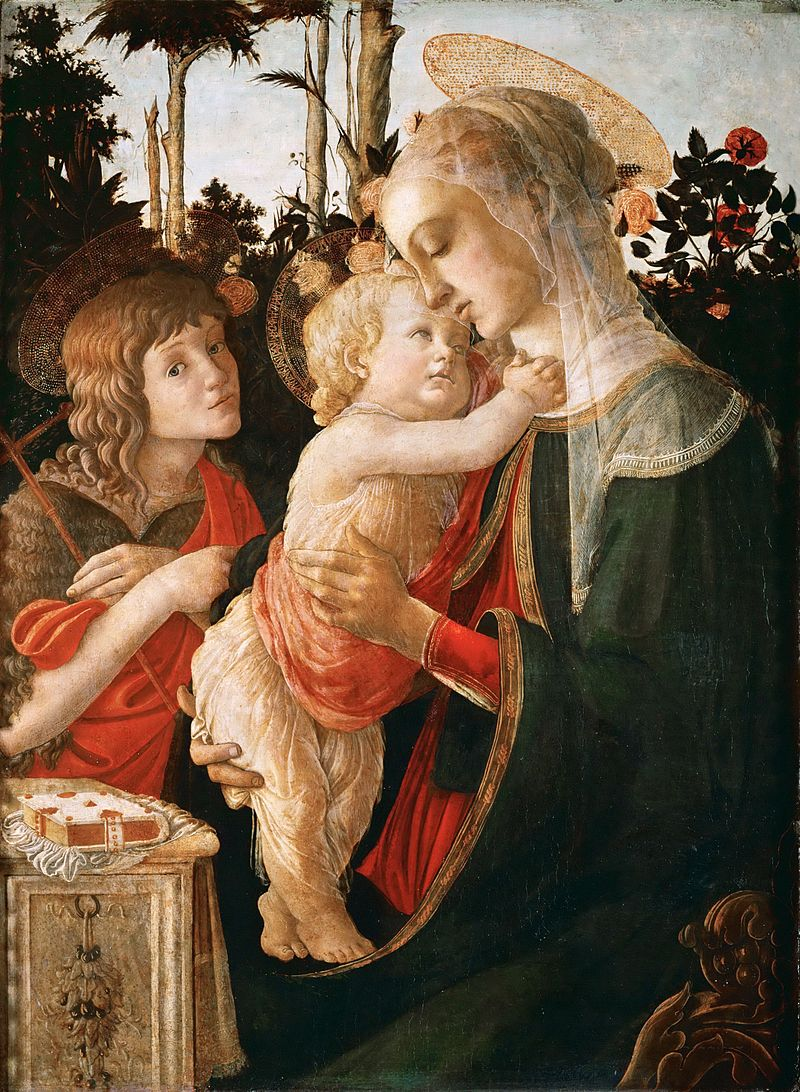 Sandro Botticelli. Madonna and Child with St John the Baptist. 1470-1475